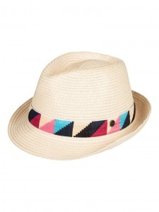 Kapelusz damski Roxy SHAKE YOUR PALM - Straw Trilby kolor NATURAL
