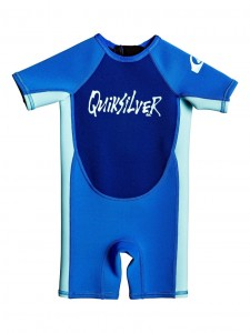 Pianka dziecięca Quiksilver Boy's 2-7 1.5 mm Syncro Short Sleeve Back Zip Springsuit kolor TAFER/ GLICER BLUE