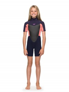 Pianka dziecięca Roxy Girl 2/2 mm PROLOGUE Short Sleeve Back Zip Springsuit for Girls 8-16