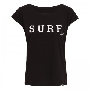 T-shirt damski SURF GIRL Gosia Strojek STR BLACK